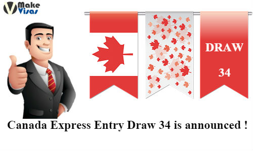 34rd Draw for Canada Express Entry is announced