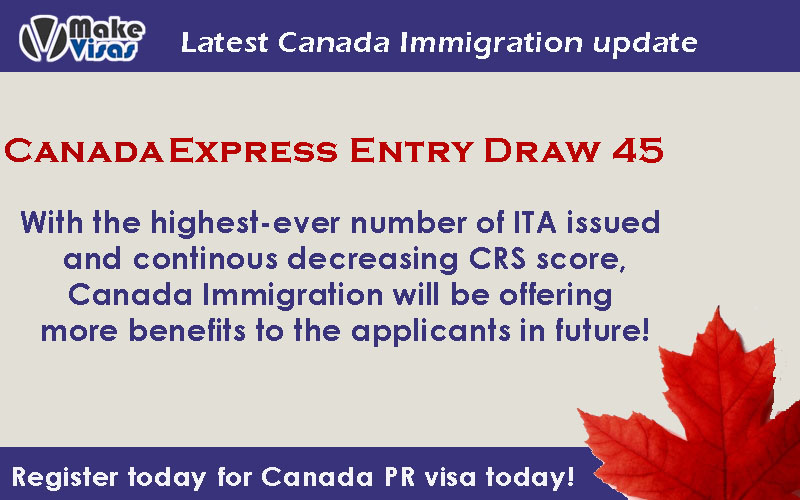 Express Entry Draw 45 with the highest ever invitations sent