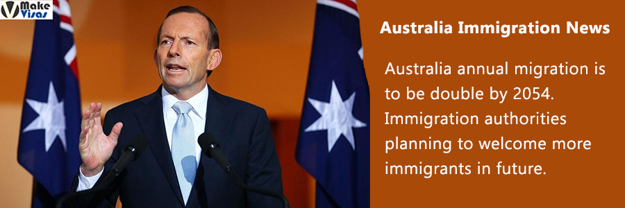 Australia annual migration is to be double by 2054