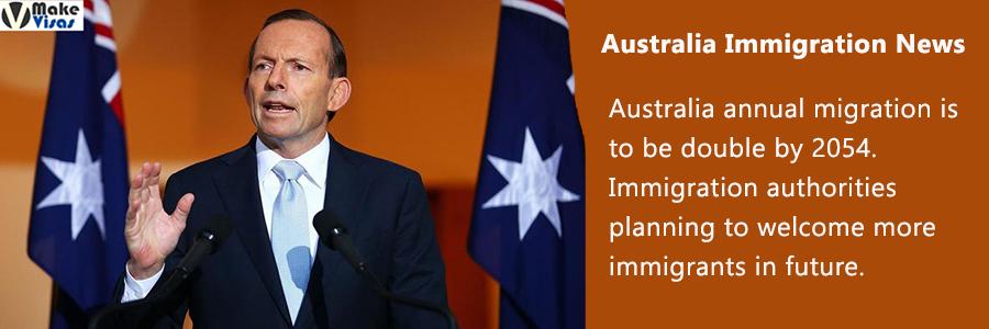 Australia annual migration