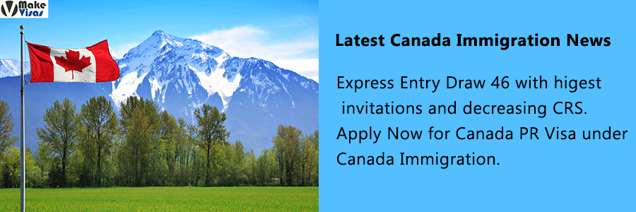 Express Entry Draw 46 with higest invitations and decreasing CRS
