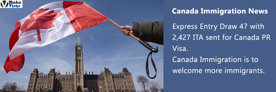 Express Entry Draw 47 with 2,427 ITA sent for Canada PR Visa